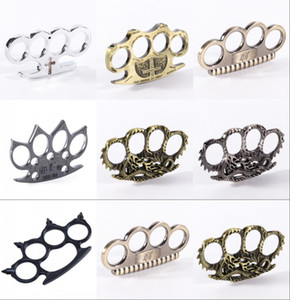 17 Designs Hell Detective Constantine Brass Knuckle Dusters Gold Powerful Damage Safety Equipment Gilded Steel Knuckle Duster Self-defense