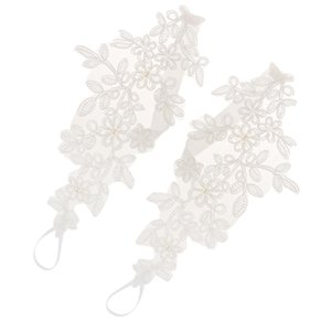 Vintage Wedding Lace Ankle Anklet Barefoot Sandals Foot Chain Beach Party Jewelry White One Size