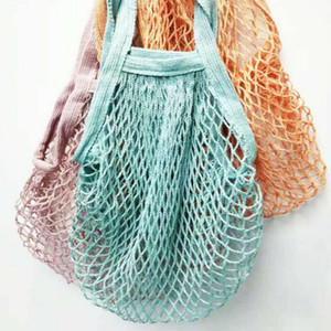 Shopping Bags Mesh Net String Bag Reusable Tote Vegetable Fruit Storage Handbag Foldable Home Handbags Grocery Tote Knitting Bag YYB3092
