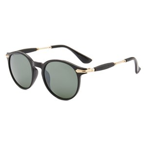 ERGERA Luxury-High Quality Classic Pilot Sunglasses Designer Brand Mens Womens Sun Glasses Eyewear Gold Metal Green Glass Lenses Brown Cases