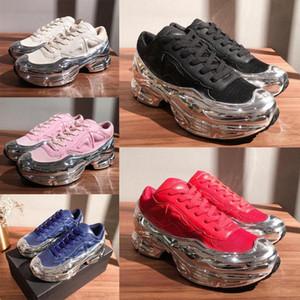 Con caja RAF SIMONS Moda Hombres Mujeres Revestidos Soles Espejo Reflectante Reflectante Ozweego Gradiente Colorido Hueco Zapatos Casuales Tamaño 36-45 40ZG #