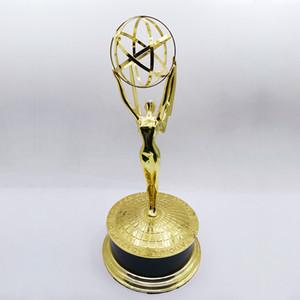 Real Vida Tamanho 39cm 1: 1 Emmy Trophy Academy Awards de Merit 1: 1 Troféu de Metal Troféu de um dia