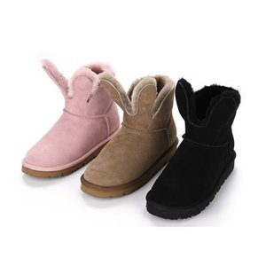 Hot Sale-High Quality Ladies Winter Snow Boots Fashion Martin Classic Short Bow Boots Ankle Knee Bow Girls Mini Bailey boots size 35-39