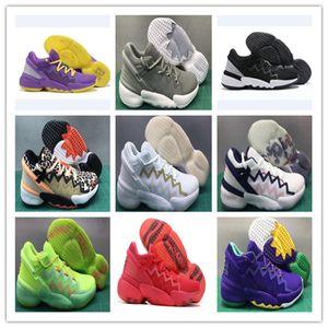2021 Yeni D.O.N. Sayı # 2 Erkekler Basketbol Ayakkabı Ucuz Satılık Mitchell Nesil 2 Yüksek Kalite Erkek Mor Sarı Tüm Kırmızı 2 S Spor Sneakers