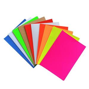 100sheets A4 colorido adesivo adesivo adesivo autoadesivo A4 kraft papel para laser jato de tinta impressora etiqueta 11 SE jlulk