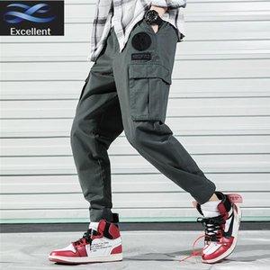 Мужские штаны мужские трубки грузовые прямые много мешков регулируемые брюки повседневный хлопок стиль хип-хоп бегуны брюки для мужчин