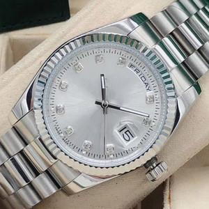 36 мм моды дамы дизайнер сталь механические автоматические движения мужская женщина алмазные часы мужские Reloj бизнес 2813 наручные часы