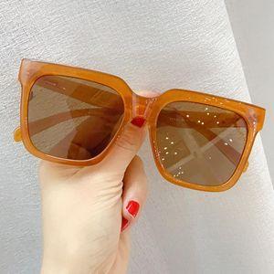 Vintage Oversized Suqare Sunglasses For Women And Men Black Brown Big Sun Glasses Uv400 Goggle Ladies Retro Caramel Eyewear