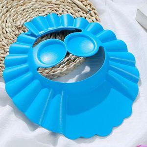 1Pcs 3Colors Kids Supplies for Wash Hair Adjustable Ear Protection Baby Shampoo Cap EVA Bath Visor Hats Waterproof