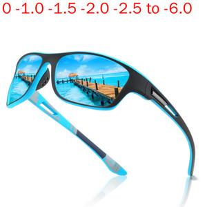 Prescription Sports Sunglasses Polarized Optical Myopia Sun Glasses For Men Square Eyewear Male Blue Driving Sungalsses NX