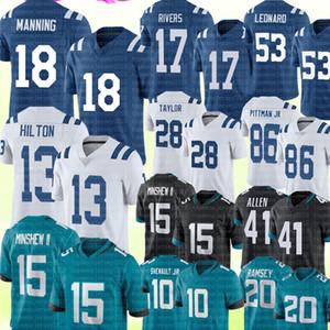 18 Peyton Manning 13 T.Y. Hilton 17 Philip Rivers Jersey 15 Gardner Minshew II Josh Allen Jersey Darius Leonard Jalen Ramsey Jonathan Taylor