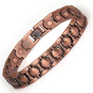 Wollet Jewelry Bio Magnetic Bracelet for Women Dark Brown Color Health Care Healing Energy Magnet Z1124