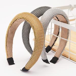 Sparkling Rhinestone Headband Bling Hair Band Baroque Crystal Hairband Hair Hoop Jewel Hair Accessories for Women Girls