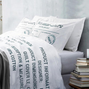Brand100%Cotton Letter Brief Modern comfortable bedding set bed clothes 4pcs duvet quilt cover bed sheet cover pillow cases