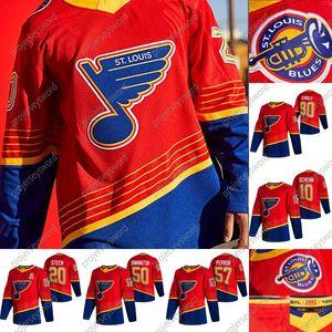 St. Louis Blues Vladimir Tarasenko 2020-21 Reverse Retro Hóquei Jersey Brayden Schenn Alex Pieterranfo Binnington David Perron Ryan O'Reilly