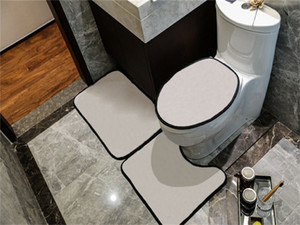 Casual Simple Toilet Seat Covers Sets Indoor Door Mats U Mats Suits Eco Friendly Bathroom Accessorie Free Shipping