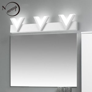 12W 18W Modern acrylic warm white  Nature White light wall light bathroom metal LED makeup mirror wall lamp dressing table