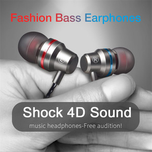 Universal In-ear Wired Earphone Metal Earphone with Mic for Cell Phone Xiaomi Huawei Samsung S9 S10 Plus 3D Stereo Earbuds Super Bass