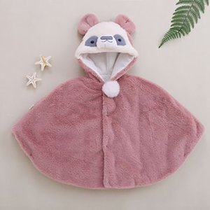 Baby Winter Hooded Jacket Boy Girl Solid Thicken Warm Ponchos And Capes Casual Kids Baby Outerwear Cloak Y1117