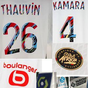 2021 OM África Maillot Leite Payet Thauvin Rongier Benedetto Kamara despeje CE 100EME Classique Jersey American College Futebol