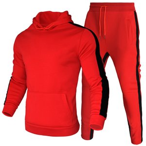 New 2020 Autumn Brand Running Two Pieces Sets Thick hoodies Tracksuit Men women Sportswear Gyms Fitness Training Hoodies Sweatshirts