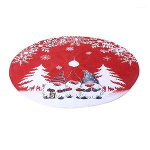 Árvore de Natal Saia Sueco Gnomo Tomte Ornamento Tapete Tapete Capa Base M0xD1