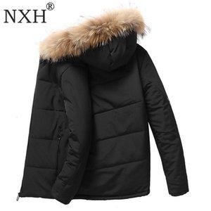 NXH PLUS Размер мужские зимние меховые пальто толщиной 9XL большой размер мужские подкладки меховые гибки и пальто30Degree Parka Windbreak