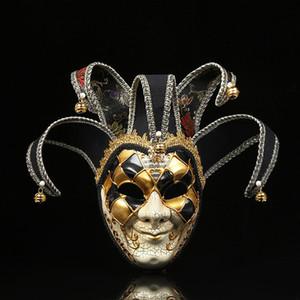 Uomini trendy ins festival maschere moda pagliaccio stampato modello adolescenti decorazione maschera halloween personalità fascino maschile maschere partito