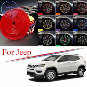 8m Multi-Farben Auto Radnabe Rand-Trim für Jeep Cherokee Kompass Wrangler Randschutz Ring Reifenstreifen Guard Gummiaufkleber