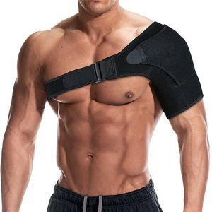 Left or Right Arm Shoulder Brace Men and Women Compression Support Single Shoulder Breathable Sports Care Guard Protect black