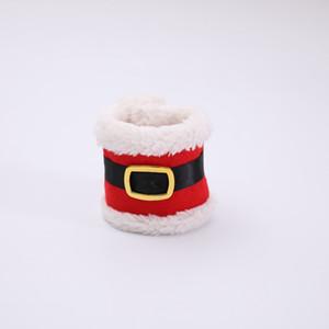 Christmas belt buckle napkin ring New Christmas belt buckle napkin cover