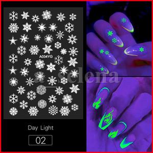 Flammes de flamme 3D Papillon Designs Designs Lumineux Nail Art Stickers Glow dans les décalcomanies de manucure
