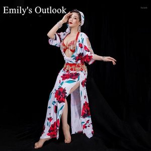 2020 Autumn Donne Dance Belly Dance Shaabi Baladi Costumi Floral Stampato folk Dancing Robe Set Competizione professionale Outfit Losed1