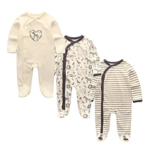 3 PCS lot newbron winter Baby Rompers Long Sleeve set cotton baby junmpsuit girls ropa bebe baby boy girl clothes B1203