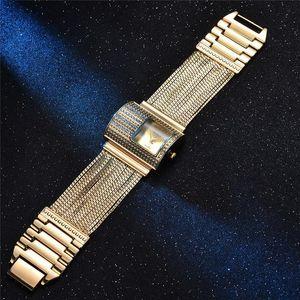 Creativity Fashion Luxury Ladies Wrist Watches Top Brand Gold Steel Strap Waterproof Women's Bracelet Watch Zegarek Damski 201204