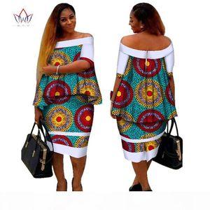 African Dashiki Print Women Clothing Two Pieces Tops and Body Corn Dress New Design 2017 Fashion Plus Size BintaRealWax WY2400