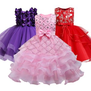 Summer Christmas Girl Dress Upscale 3-14 yrs princess Dresses girls Wedding Sequins Embroidered Formal Girl Birthday Party Dress 201202