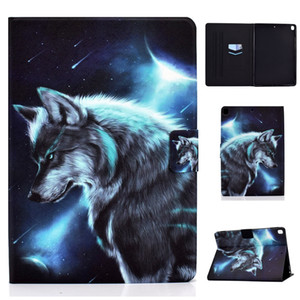 Leather Wallet Case For Ipad Mini 2 3 5 Pro 10.2 2020 Air 4 11 2 3 4 5 6 Air 2 9.7 10.5 11 Lion Wolf Fox Bear Cat Flower Rose Holder Cover