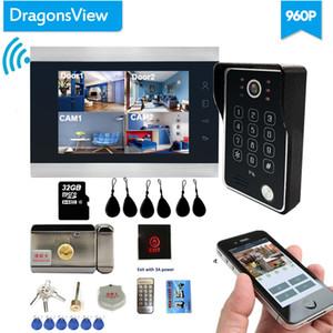 DragonsView Téléphone de porte vidéo sans fil Wifi Smart IP Accueil Interphone avec verrouillage électronique 7 pouces AHD 960P IR LEDS Y1128
