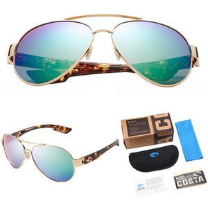 Loreto Pilot Солнцезащитные очки Мужчины 580P Поляризованные Солнцезащитные очки Открытый Спорт Вождение Солнцезащитные Очки Мужской Коста Очки Accessory UV400