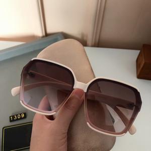 2021 new Luxur Top Quality Classic Square Sunglasses Designer Brand fashion Mens Womens Sun Glasses Eyewear Metal Sunglasses 1309 with box