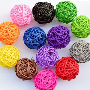20pcs 5 cm multicolor Christmas tree decorative rattan ball,Wedding and home ornament craft ball Free shipping 1405 Z1128