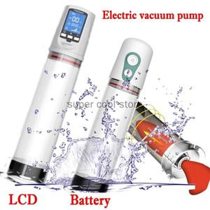 Taça integrada elétrica Bomba de pênis Pénis Sleeve Penis Extender Extender Ampliação de Bombas de Vácuo
