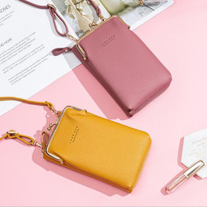 Shujin Crossbody Cell Phone Borsa a tracolla Borsa per cellulare Moda Modo Daily Uso Porta carte Mini Summer Spalla per le donne Portafoglio