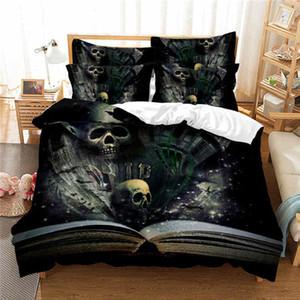 Hot 3D Skull Printed Bedding Set Duvet Cover Bed Set Queen Microfiber Home Textiles For Adults