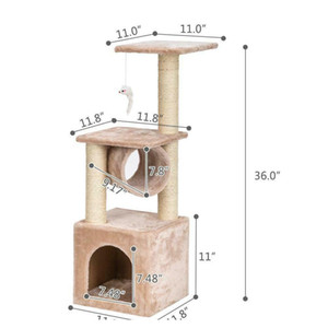 """36"""" Cat Tree Bed Furniture Scratching Tower Post Condo Kitten qylcYk yh_pack"""