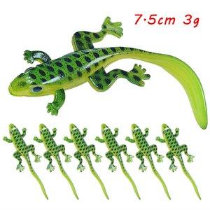 20 unids / lote 7.5 cm 3g Ojos 3D Elliot Frog Silicona Pesca de silicona Cebos blandos Señuelos Artificial Cebo Pesca Accesorios para aparejos de pesca SF_226