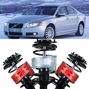 For Volvo S80 2pcs High Quality Front Shock Suspension Cushion Buffer Spring Bumper Red White Rubber Buffer SEBS