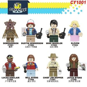 CY1001 science fiction thriller Stranger Minifig Things Building Blocks Mini Doll Bricks For Boy Kid Brithday Gifts Toys