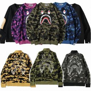 Купальня APE Bape01 Мужчины женщиныBaep Hoodie Aaep Camo акула толстовки толстовки моды дизайнеры свитера свитер одежда одежда R5AP #